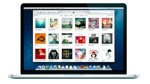iTunes on MacBook