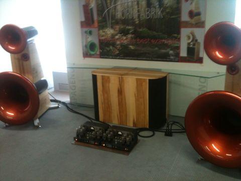 Hornbrik speakers Atmasphere amp